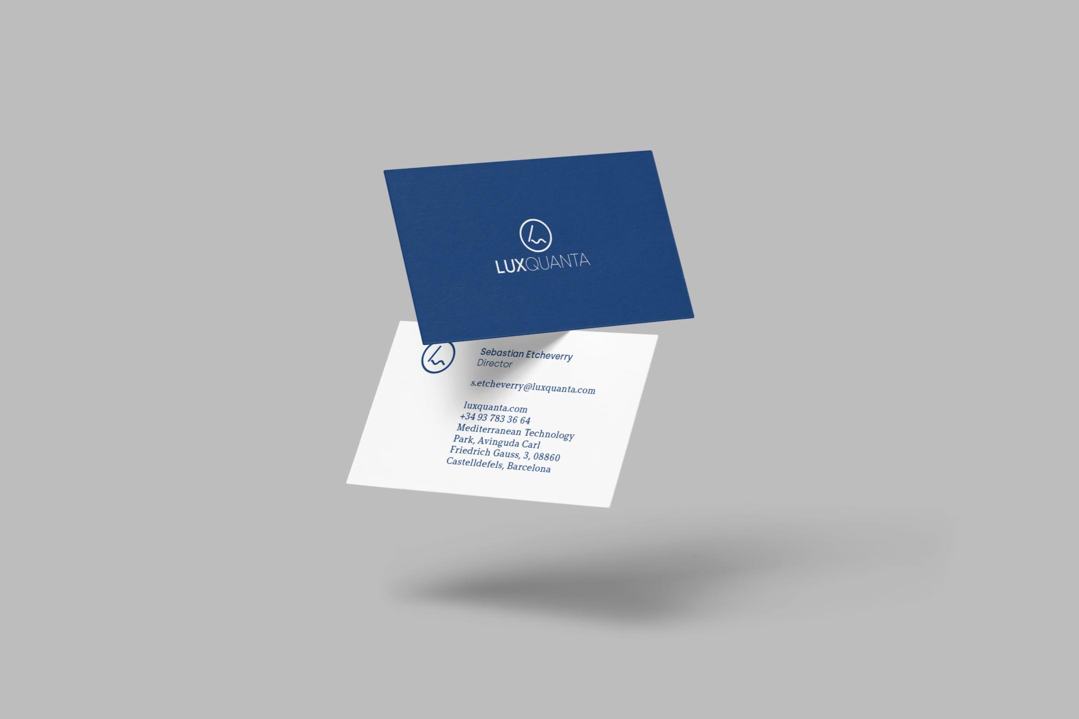 LuxQuanta-logo-design-business-card