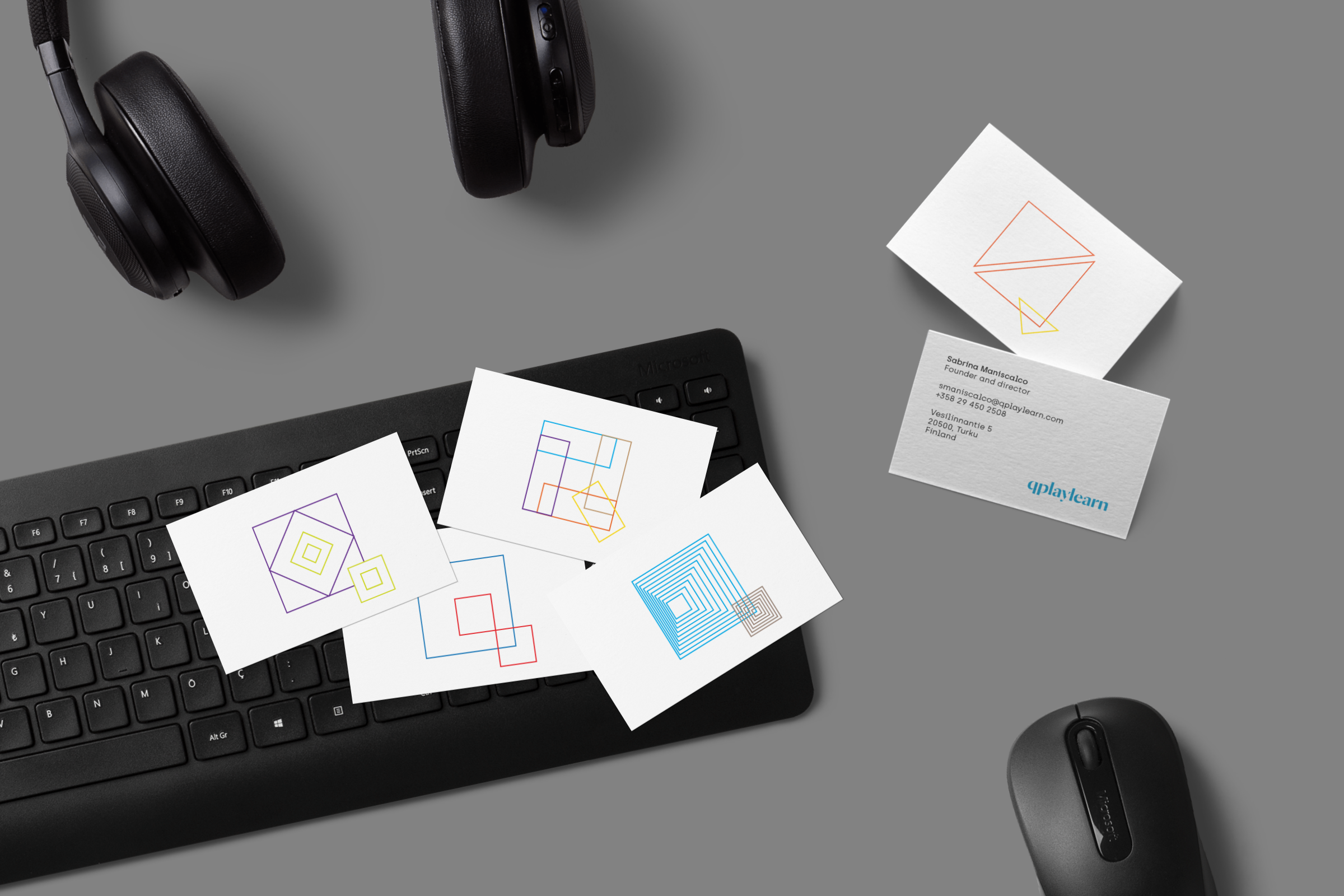 Qplaylearn-business-cards-design