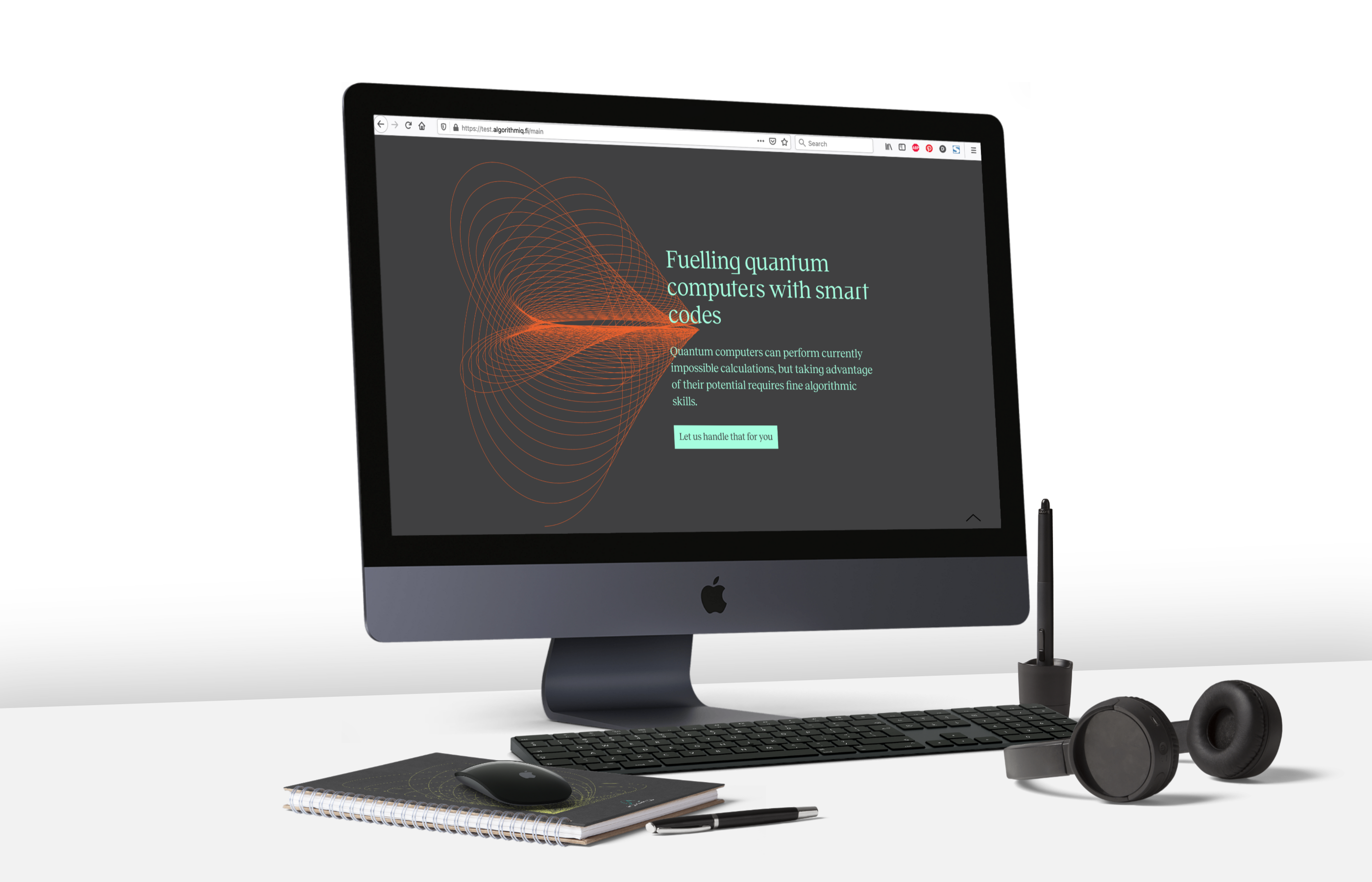 Web-design-Algorithmiq-design-quantum-technology-startup